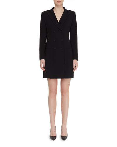 Digital Double-Breasted Tuxedo Dress