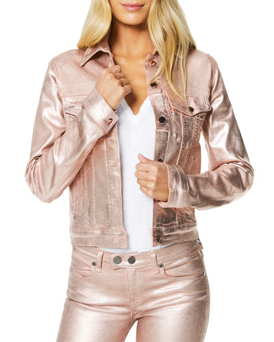 Claudia Metallic Cropped Jacket