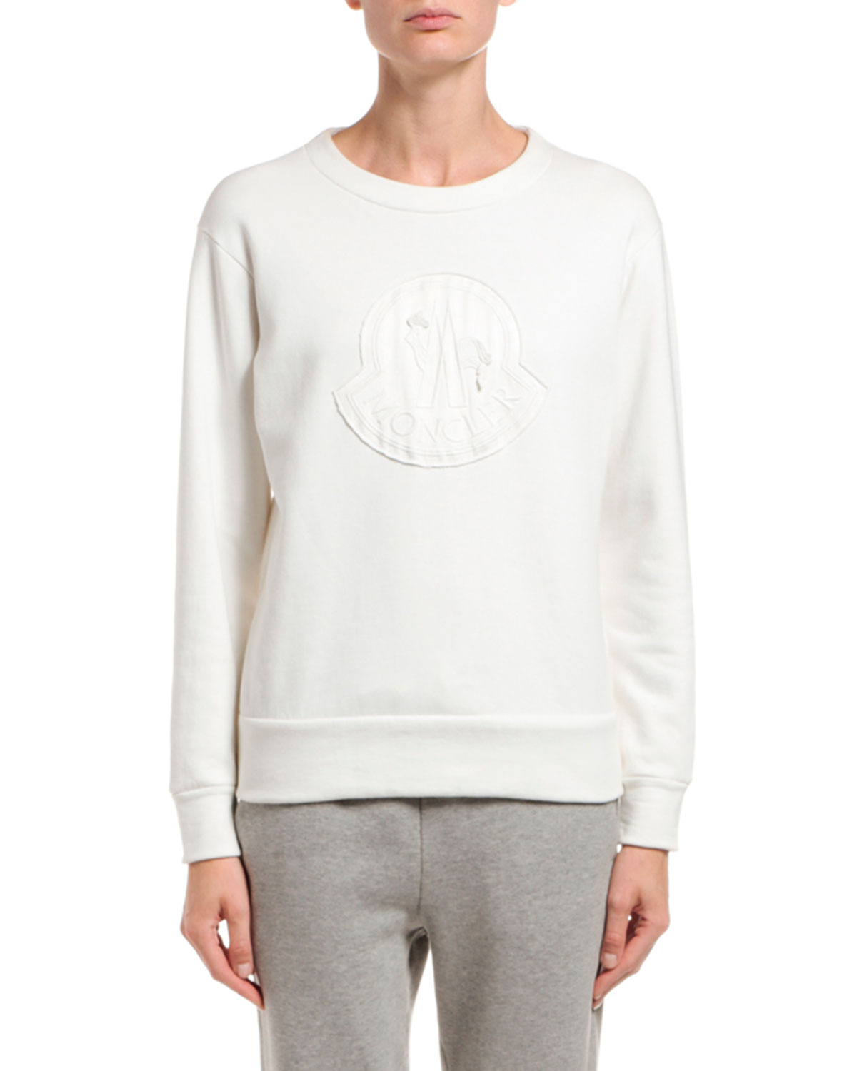 Moncler T-shirts LOGO EMBROIDERED SWEATSHIRT
