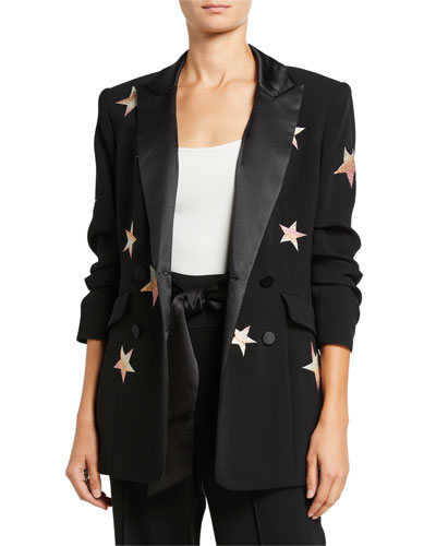 Lila Embroidered Star Blazer