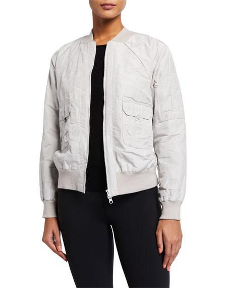 Blanc Noir Tierra Camo Jacquard Aviator Jacket