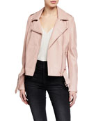 Blanc Noir Classic City Leather Moto Jacket