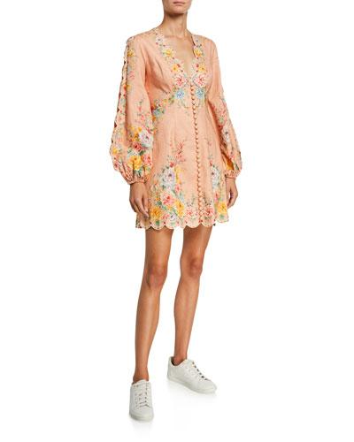 Zinnia Scalloped Mini Dress