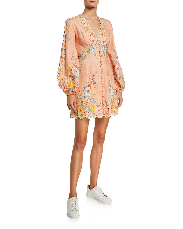 Zimmermann Dresses ZINNIA SCALLOPED MINI DRESS
