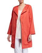 Natori Cotton Twill Front-Tie Jacket