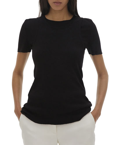 Double Layer Short-Sleeve Tee