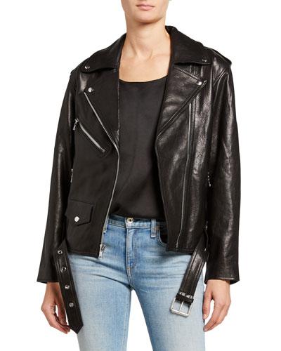 Eryn Leather Moto Jacket