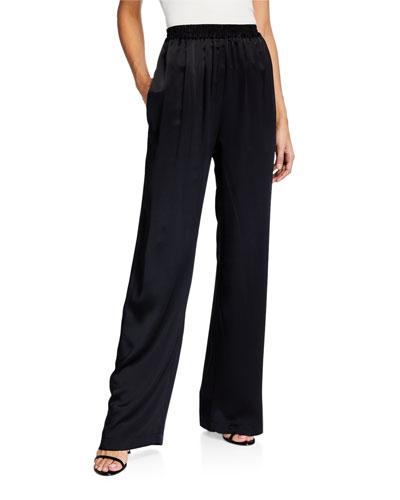 Penelope Silk Pull-On Pants
