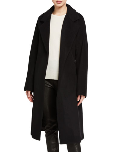 Calissi Wool Coat with Self Belt
