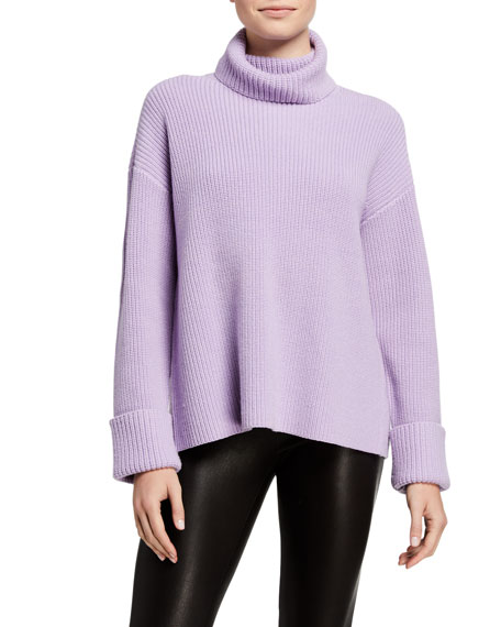 Alice + Olivia Mel Turtleneck Cross-Back Pullover