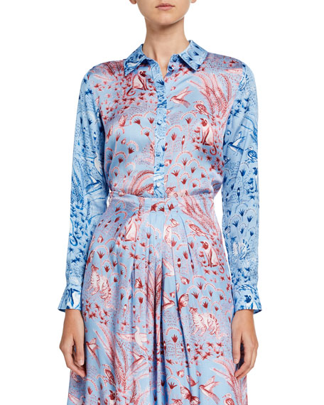 Stine Goya Maxwell Printed Button-Front Shirt