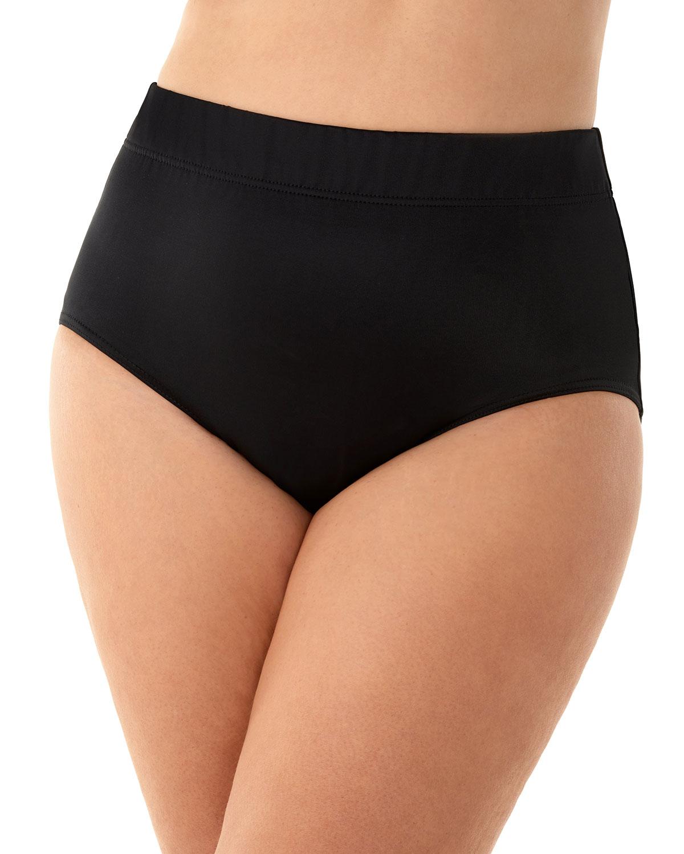 Plus Size Basic Full-Coverage Bikini Bottom