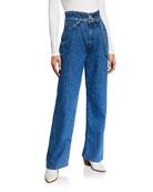 Rag & Bone High-Rise Paperbag Jeans