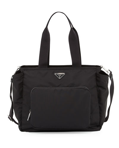 prada vela nylon tote bag with strap