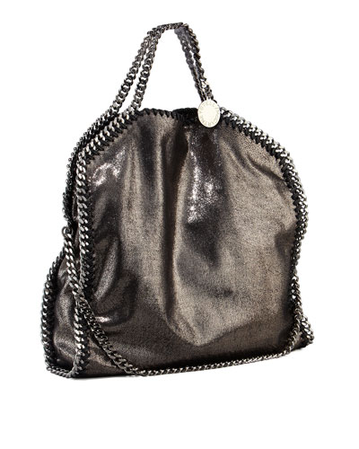 Falabella Fold Over Tote, Ruthenium