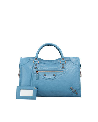 Giant 12 Rose Golden City Bag, Blue Indigo