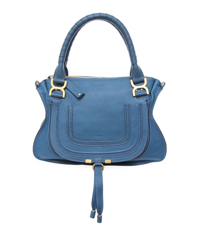 Marcie Medium Satchel Bag, Nut
