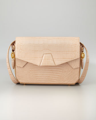 Tri-Fold Shoulder Bag, Almond