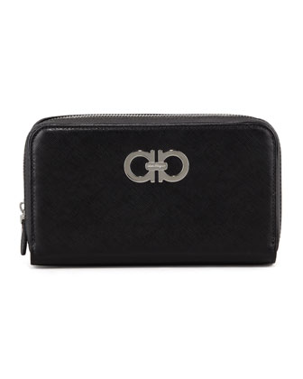 Icona Gancini Wallet, Black