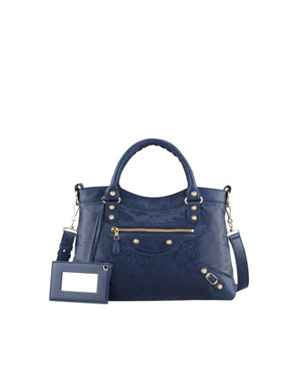 Giant 12 Golden Town Bag, Bleu Mineral