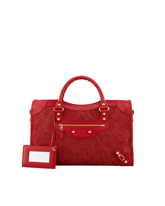 Giant 12 Golden City Canvas Bag, Rouge/Coquelicot