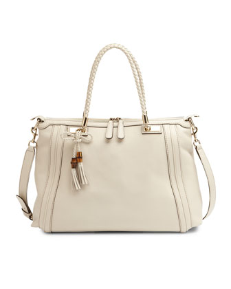 Bella Medium Top-Handle Bag, White