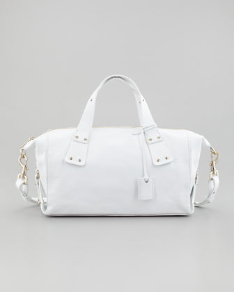Stratford Satchel Bag, Bleached White