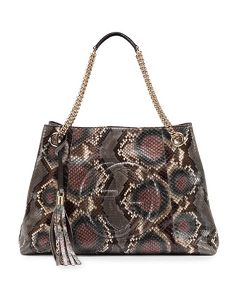 Soho Python Medium Chain-Strap Bag