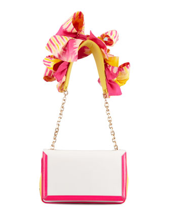 Artemis Flower Shoulder Bag, Rose