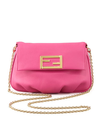 Fendista Pouchette Crossbody Bag, Fuchsia