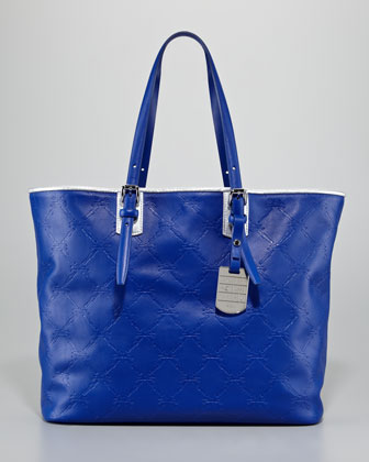 LM Cuir Large Tote Bag, Indigo