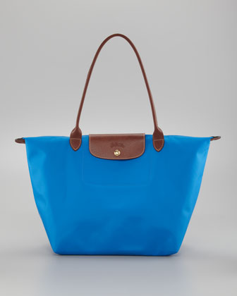 Le Pliage Large Shoulder Tote Bag, Ultramarine
