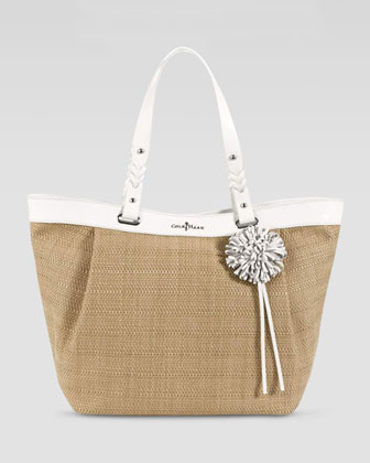 Bedford East-West Tote Bag, Ivory/Natural