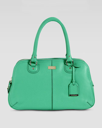Village Satchel Bag, Green