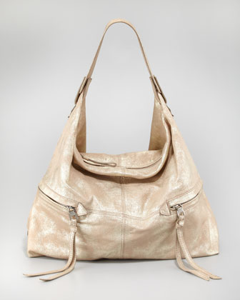 Crosby Metallic Hobo Bag, Gold
