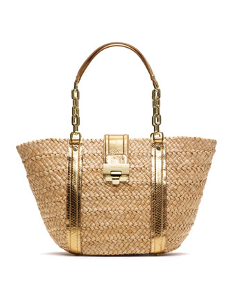 Large Deneuve Straw Tote