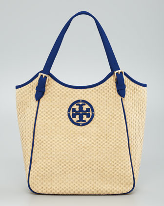 Small Slouchy Straw Tote Bag