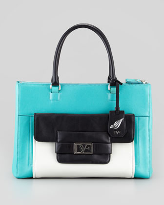 Eva Colorblock Tote Bag, Multicolor