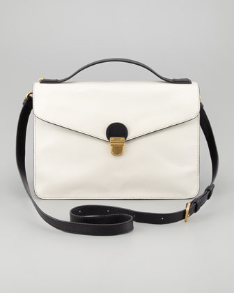 Top Chicret Two-Tone Leather Satchel
