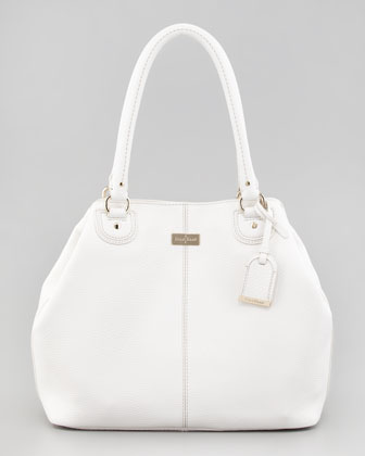 Village Convertible Tote Bag, White