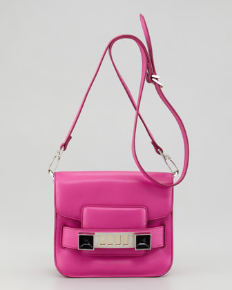 PS11 Tiny Crossbody Bag, Fuchsia