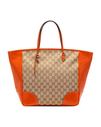 Bree Original GG Canvas Tote, Orange/Brown