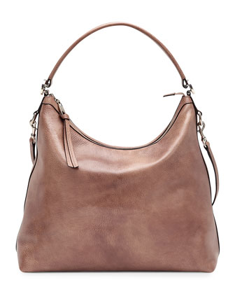 Miss GG Leather Hobo, Mauve