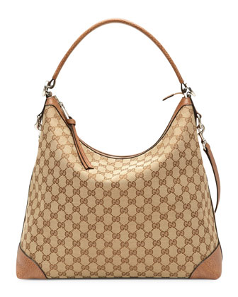 Miss GG Original GG Canvas Hobo, Tan