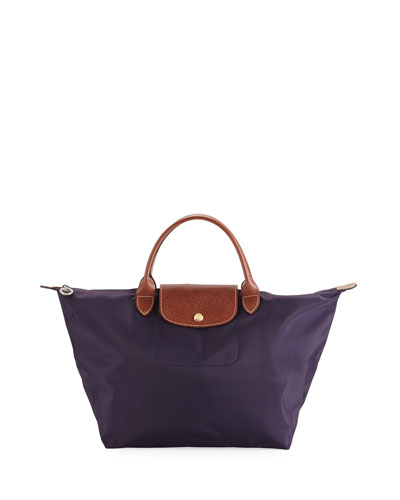 Le Pliage Medium Handbag, Navy