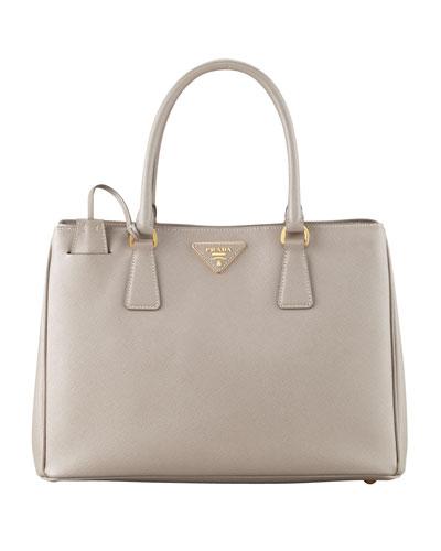 Saffiano Gardner's Tote Bag, Gray (Argilla)