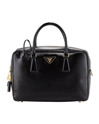 Saffiano Vernice TV Bag, Black