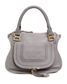 Marcie Medium Satchel Bag, Gray
