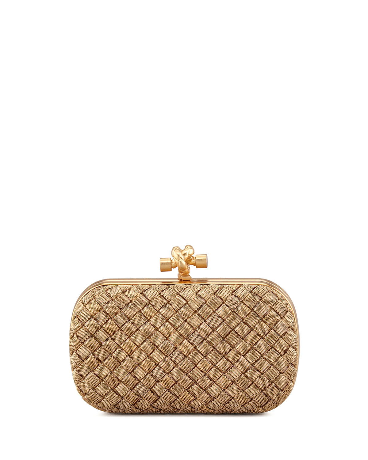 Woven-Chain Knot Minaudiere, Gold