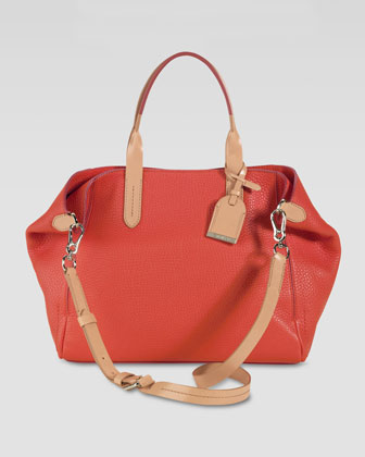 Small Crosby Leather Shopper, Orange